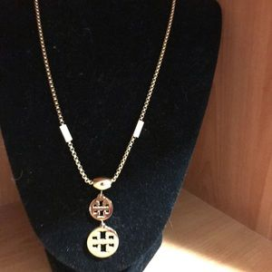 Tory Burch sophisticated logo necklace used twice